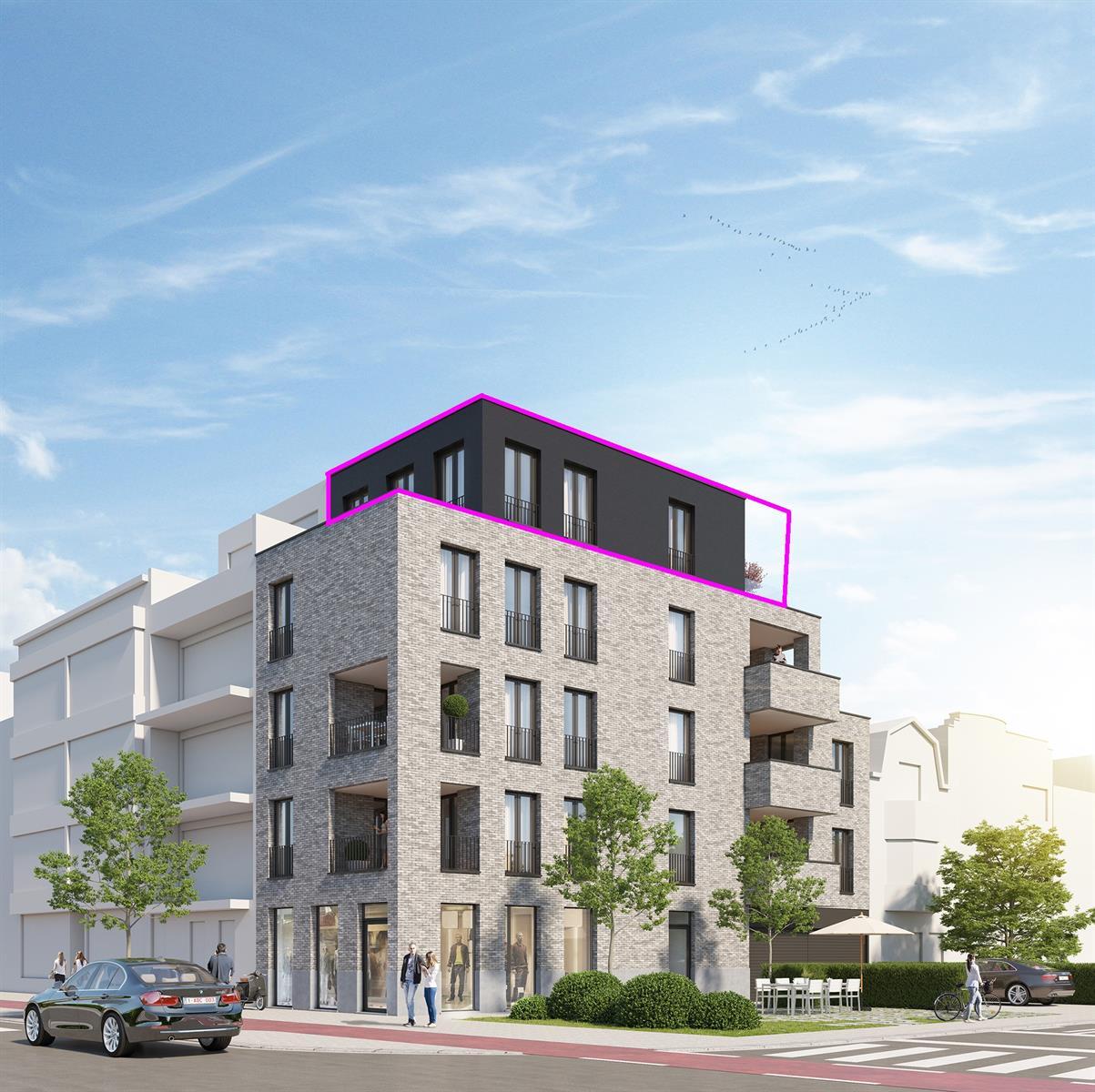 Nieuwbouw 1 slpk penthouse met terras